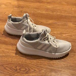 White Adidas Cloudfoam Sneakers